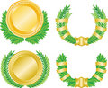 Laurel wreath and medal Stock Photography