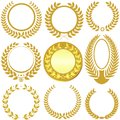 Laurel wreath set Imagem de Stock