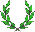 Laurel wreath (Vector) Stock Photography