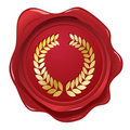 Laurel wreath wax Seal Stock Photography