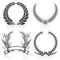 Laurel Wreaths Stock Photos
