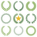 Laurel wreaths Royalty Free Stock Images
