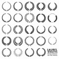 Laurel wreaths vector collection Stock Image