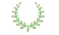 Laurels wreath design element with green leaves Royalty Free Stock Photos