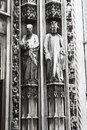 Lausanne cathedral statue switzerland august the old details Stock Photography
