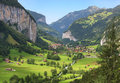 Lauterbrunnen valley in switzerland the swiss alps Stock Photography