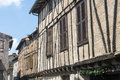 Lautrec france old village tarn midi pyrenees medieval with half timbered buildings Royalty Free Stock Photos