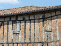 Lautrec france old village tarn midi pyrenees medieval with half timbered buildings Royalty Free Stock Photo