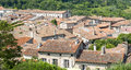 Lautrec france old village tarn midi pyrenees medieval panoramic view Royalty Free Stock Photos