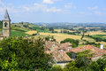 Lautrec france old village tarn midi pyrenees medieval panoramic view Royalty Free Stock Images