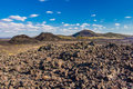 Lava Field And Cinder Cones Royalty Free Stock Photo