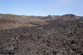 Lava field isabela island galapagos fields on the flank of sierra negra with different colours of showing flows of different ages Stock Photo