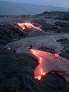 Lava flows in volcanoes national park hawai i Stock Images