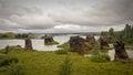 Lava formations of kalfaströnd iceland Royalty Free Stock Photo