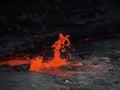 Lava inside Erta Ale volcano, Ethiopia