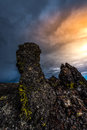 Lava Pillars Craters of The Moon Royalty Free Stock Photo