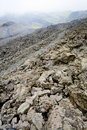 Lava rocks close up on slope of Etna Royalty Free Stock Photos