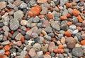 Lava stones close up image of background Royalty Free Stock Photo
