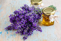 Lavander with aromatic oil