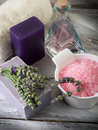 Lavender and  bath product Stock Image