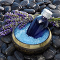 Lavender bath salts Royalty Free Stock Photo