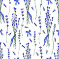 Lavender bouquet seamless vector pattern hand drawn graphic flower texture background, sketch isolated on white