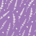 Lavender butterflies repeat pattern background Royalty Free Stock Photo