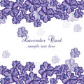 Lavender Card with flowers in watercolor paint