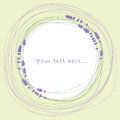 Lavender circle and place for your text graphic Stock Photography