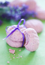 Lavender cookies Royalty Free Stock Photos