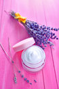 Lavender cream Royalty Free Stock Photo