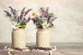 Lavender & Daisies Royalty Free Stock Photo