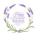 Lavender elegant card