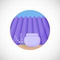 Lavender face cream jar  flat icon Royalty Free Stock Photo