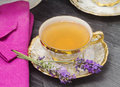 Lavender flavored tea Stock Photography