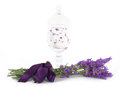 Lavender flower with bath salts Royalty Free Stock Photo