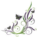 Lavender flowers butterflies abstract with colorful vector Stock Photo