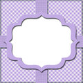 Lavender Gingham with Ribbon Background Royalty Free Stock Photos