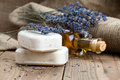 Lavender handmade soap bars Royalty Free Stock Photo