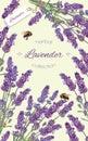 Lavender natural cosmetics banner
