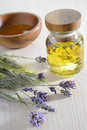 Lavender oil bunch of and Royalty Free Stock Photo