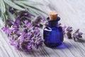 Lavender Oil In A Glass Bottle...