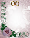 Lavender Rose Wedding Invitation Royalty Free Stock Image