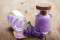 Lavender salt Royalty Free Stock Photo