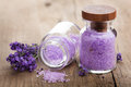 Lavender salt Stock Photos