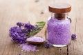 Lavender salt Royalty Free Stock Photo
