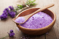 Lavender salt for spa Stock Photography