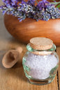 Lavender Salts Royalty Free Stock Photo