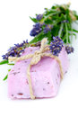 Lavender soap Royalty Free Stock Images