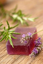 Lavender soap Stock Photo